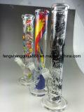 Plataformas petroleras de cristal del reciclador del tubo que fuma del agua de Fengshang coloridas