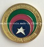 Подгонянные латунные умирают после того как они поражены покрывающ золотую монетку (MJ-Coin-120)