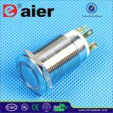 commutateur de bouton poussoir 6pin lumineux par LED de 19mm (LAS1GQ-19F-11E)