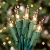 Холодный белый 120V UL 100 светодиодов мини Рождество String фонари