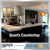 Le quartz de haute qualité, la pierre artificielle, Nano, de pierre, dalles de quartz de quartz blanc pour la cuisine avec comptoir musoir du traitement des bords