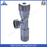 Válvula de ângulo de latão polido com pega de plástico (YD-5013)