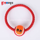 La sfera di tennis gioca i giocattoli del cane di giocattoli della corda dei giocattoli dell'animale domestico della stringa