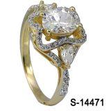 Anillo de joyería 14k chapado en oro plata esterlina