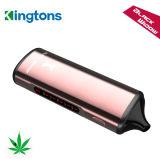 Vaporizzatore asciutto dell'erba della finestra di nero del kit 2200mAh Ecig di Kingtons E Vape con la bobina 0.6ohm