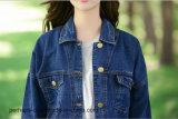 Revestimento retro da sarja de Nimes da alta qualidade da roupa das mulheres da forma