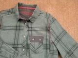 Les hommes du 100%Teinture de fils de coton tissé Chambray Plaid chemises à manches longues
