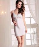 """Pijamas """"sexy"""" Sy10302626 da seda + do laço das mulheres por atacado do Nightwear da roupa de noite da cinta"""
