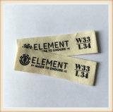 Etiquetas de vestuário barato tecidas da marca do OEM