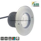 LED 9W Inground Voyant Voyant souterrain avec objectif spécial