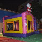 Castillo inflable de la gorila de la historieta del color de rosa caliente de la venta para los cabritos