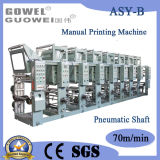 Label (Pneumatic Shaft)를 위한 Shaftless 4 Color Rotogravure Printing Machine