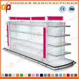 Supermarkt-Gondel-Doppelt-Seiten-Bildschirmanzeige-Regal mit Spitzenlicht (ZHs656)