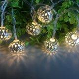 Maroq 10の銀製の電池式LEDの豆電球