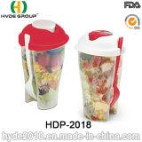 분리되는 옷을 입는 콘테이너 (HDP-2018)를 가진 샐러드 셰이커 컵