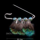 Mode personnalisé de gros Rhinestone théière Brooch Pin Pompom Poignée de commande de bijoux