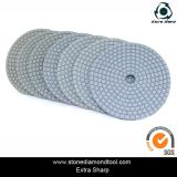 Tampone a cuscinetti per lucidare della smerigliatrice bagnata di Anlge con la protezione del Velcro