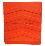 Orange Polyurethan-Schaumgummi-LKW-Rad-Keile