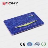 Acabamento brilhante Regraváveis de cartão de fidelidade de RFID
