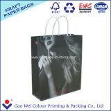 Carta kraft Bianca del sacchetto di acquisto Bag per vestiti