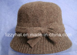 Мода вязаные шерстяные Red Hat в носовой части для леди Red Hat черного цвета