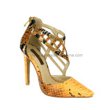 Lady Stiletto Sandales en cuir