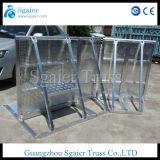 Алюминиевые ступени барьер, полиции барьер, расширяемый защитный барьер