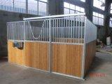 Piscina interior portátil galvanizado estábulo de cavalos de madeira empurrador do Painel