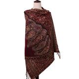 花模様が付いている100%年のポリエステル女性スカーフ