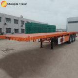 Aanhangwagen van de Vrachtwagen van de Verschepende Container van de tri-as 20FT40FT Flatbed Semi voor Verkoop