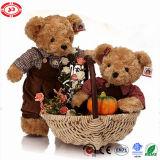 Gelukkig de Teddybeer van het Paar van de Pluche van de Kwaliteit van het Stuk speelgoed van de Familie