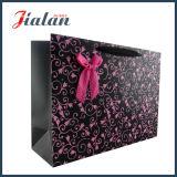 Sacs en papier de cadeau estampés par logo de rose chaud de proue de bande