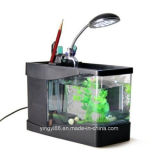 Nouveau support en acrylique Creative Eco USB Desktop Aquarium Goldfish Bowl Mini