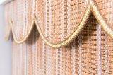 Persianas de bambú con cinta de color de sombra