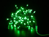 Comercial Dark Green Wire LED String Curtain Christmas Lights