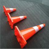 De Aanleg van wegen Kegel van het Verkeer van pvc van 70 Cm de anti-Uv Oranje met Ce