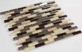 Azulejo de mosaico de cristal del cuarzo de la mezcla