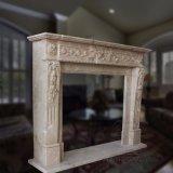 Lareira em mármore de estilo francês com boa qualidade Hand-Carved T-6572