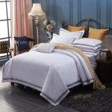 Lecho llano blanco al por mayor del hotel del llano de ropa de cama del hotel del percal