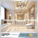 Piedra natural amarillenta elegante/azulejo de mármol para el cerco del cuarto de baño