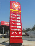 Precio de la estación de gas de Pylon carteles LED