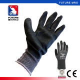 Nylon резиновый 2-Ply перчатки нитрила покрытия для масла упорного и скреста упорного