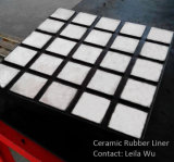 Baldosas de cerámica de alúmina de alta en el caucho de la placa de revestimiento de desgaste