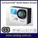 2 het scherm Volledige HD 1080P maakt de MiniCamera van de Actie van de Sport van de Helm G3 waterdicht