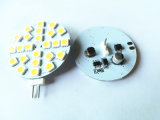 G4, disco de LED de 45mm de diámetro: 24 SMD5050 DC10-30 V AC8-18V Back/Side Pin blanco cálido