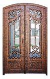 Популярная шикарная изготовленный на заказ двойная дверь утюга 2017 с стеклом