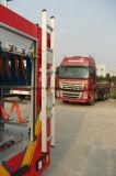 화재 싸움 트럭은 부속품 알루미늄 단계 사다리를 분해한다