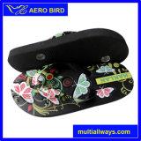 Африканский ботинок тапочки цены оптовика PE с цветастой планкой (14G013)