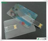 Transparenter Kreditkarte USB-Stock mit buntem Firmenzeichen (WY-C11)