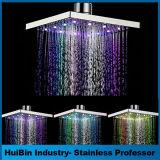 """Alta Presure LED pista de ducha de temperatura controlada de Squre 12 """""""